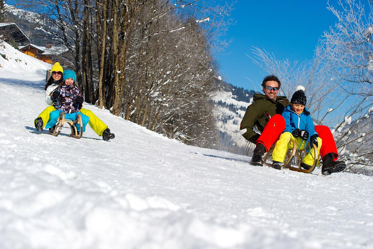 Rodeln - Winterurlaub im Großarltal